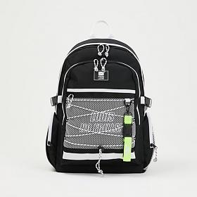 [로디스]LODIS - 메가백팩 블랙앤화이트 학생백팩 학생가방 신학기