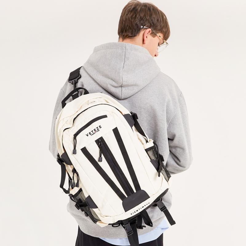 베테제 - Multi Cross Backpack (ivory) 2way 멀티 크로스 슬링백 백팩 (아이보리)