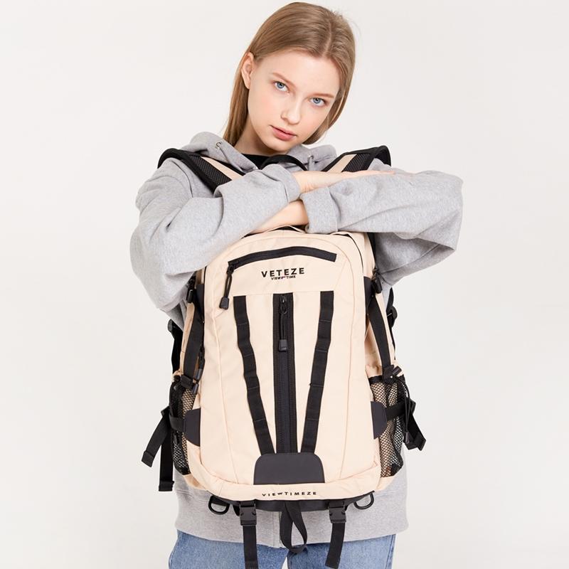 베테제 - Multi Cross Backpack (beige) 2way 멀티 크로스 슬링백 백팩 (베이지)