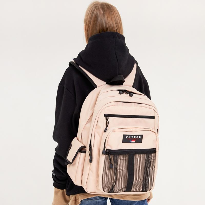 베테제 - Retro Sport Bag 2 (beige) 레트로 스포츠백 2 메쉬 망사 백팩 가방 (베이지)