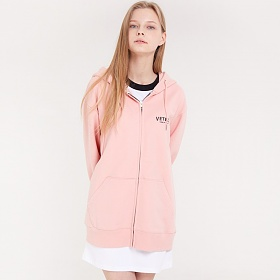 베테제 - Curve Logo Hood Zipup (pink) 커브 로고 후드 집업 (핑크)