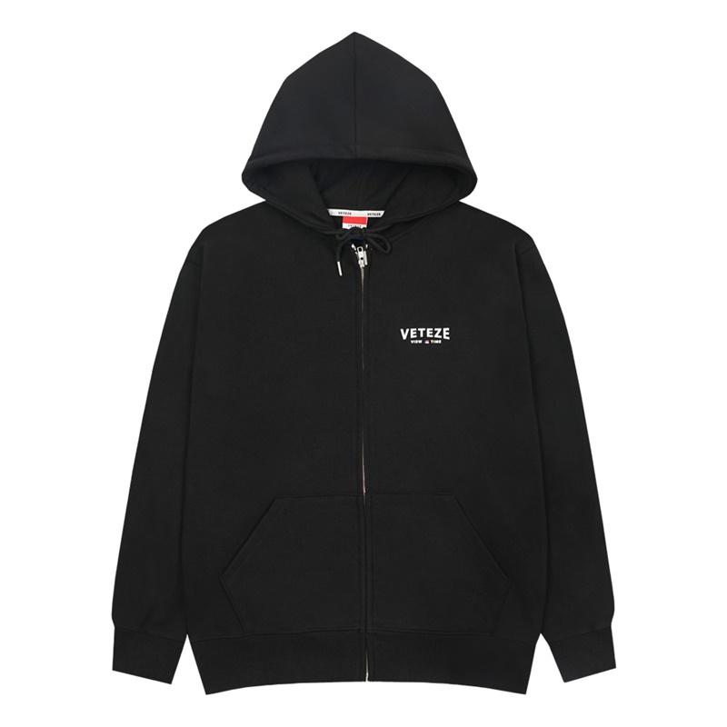 베테제 - Curve Logo Hood Zipup (black) 커브 로고 후드 집업 (블랙)