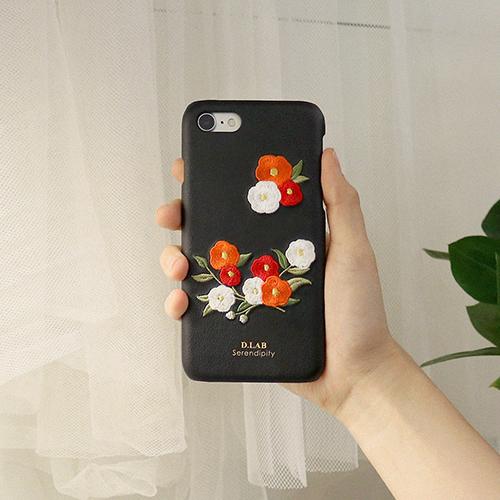 [디랩]D.LAB - D.product edition 동백꽃 자수 아이폰 케이스 휴대폰케이스