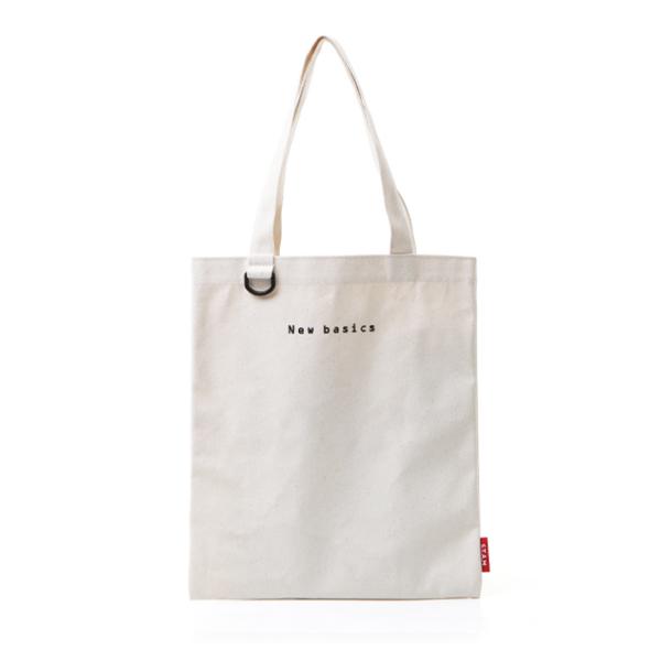 [스탐]STAM 캔버스 디링 미니 로고 자수 에코백 Canvas Logo Eco bag 아이보리(Ivory) 토트백 숄더백