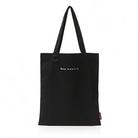 [스탐]STAM 캔버스 디링 미니 로고 자수 에코백 Canvas Logo Eco bag 블랙(Black) 토트백 숄더백