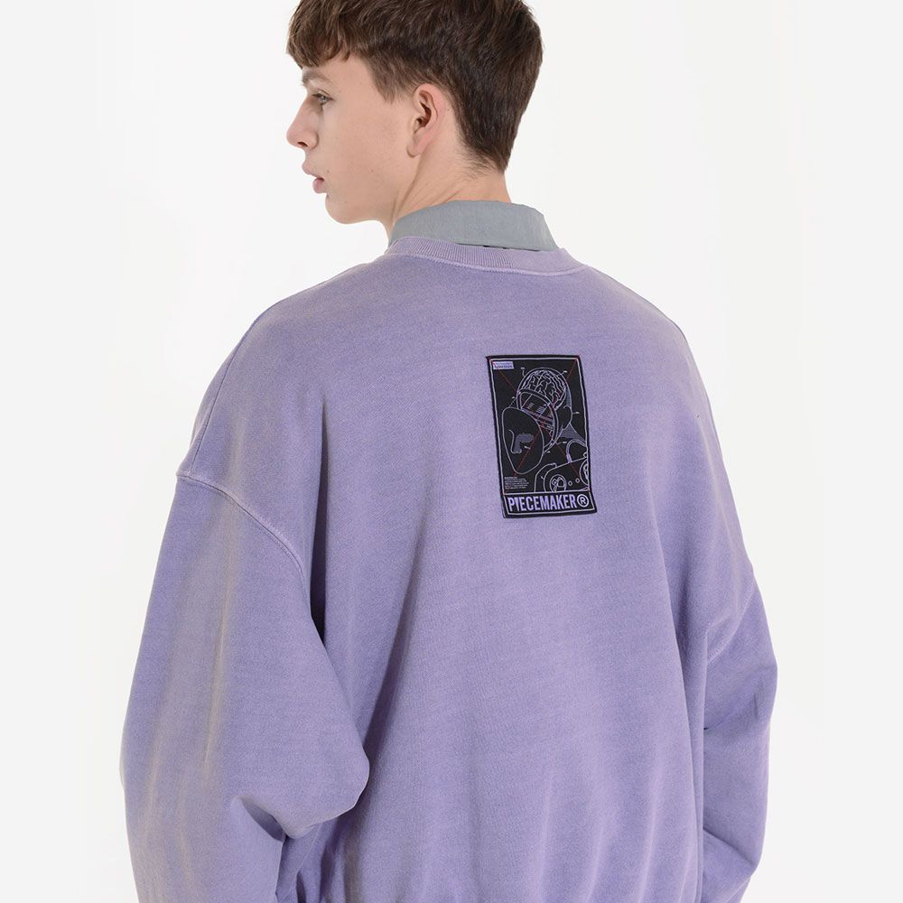[피스메이커] PIGMENT REVERSIBLE SWEAT SHIRTS (PURPLE) 피그먼트 리버시블 스�� 셔츠