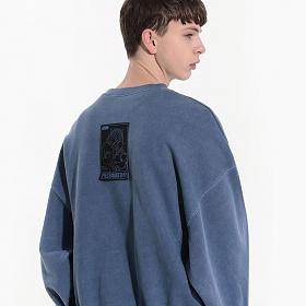 [피스메이커] PIGMENT REVERSIBLE SWEAT SHIRTS (NAVY) 피그먼트 리버시블 스�� 셔츠