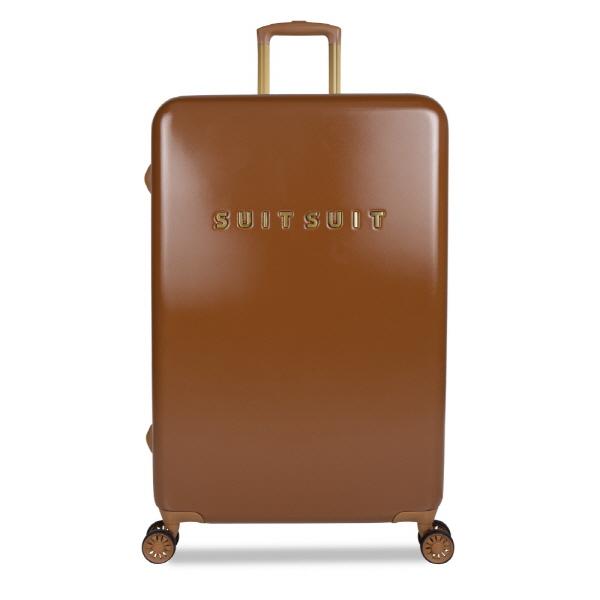 [수잇수잇(suitsuit)] 세븐티스 레더 브라운 28인치 중대형 캐리어 (TR-71068) 하드캐리어