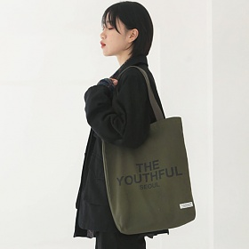 [벗딥]BUTDEEP - 유스풀 서울 에코백-올리브 숄더백