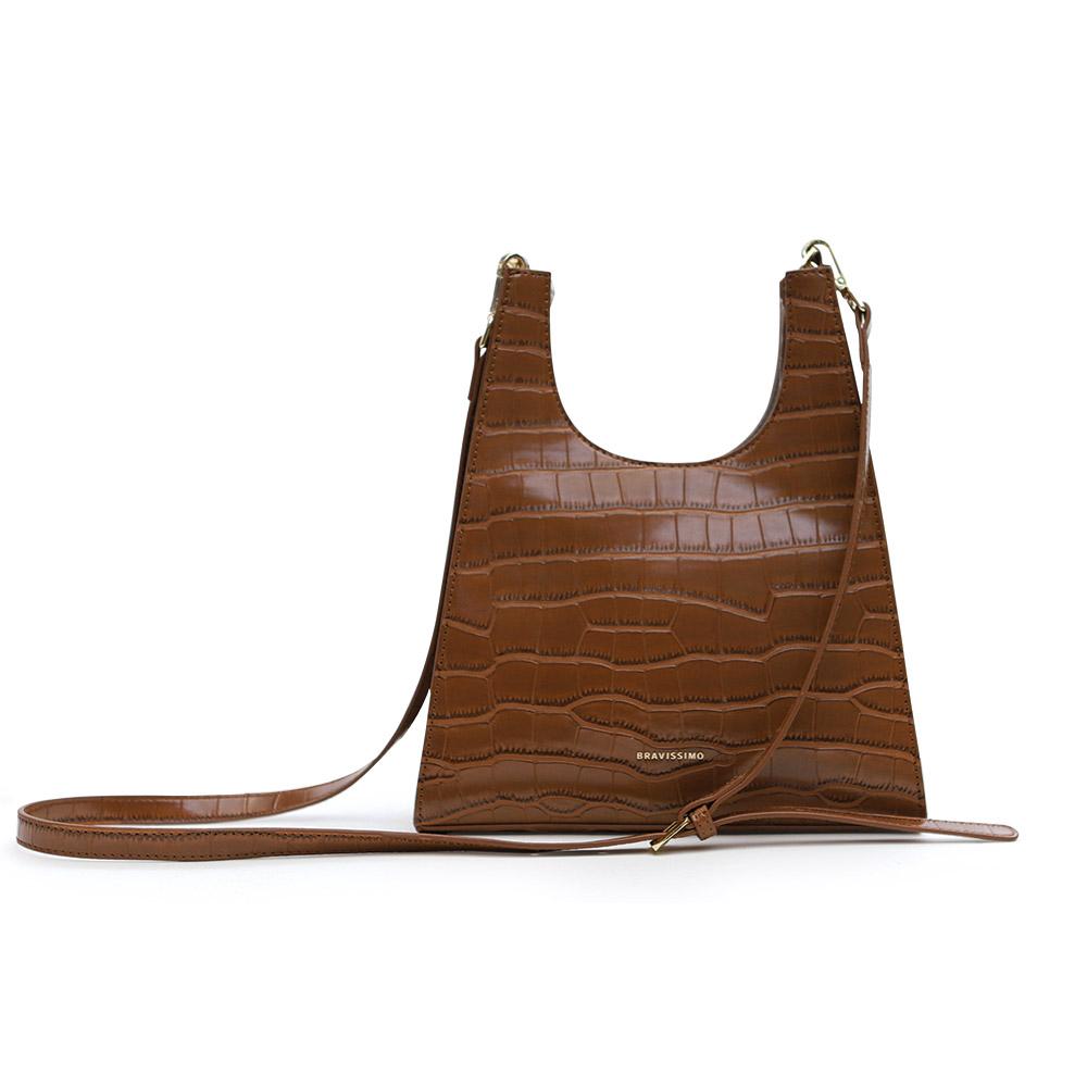 [브라비시모]메텔(metel bag) - Caramel Brown 여성가방