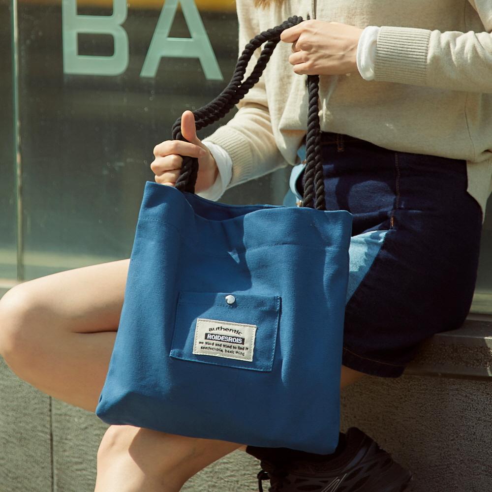 [로아드로아] ROPE COTTON ECO BAG (BLUE) 로프 에코백 숄더백