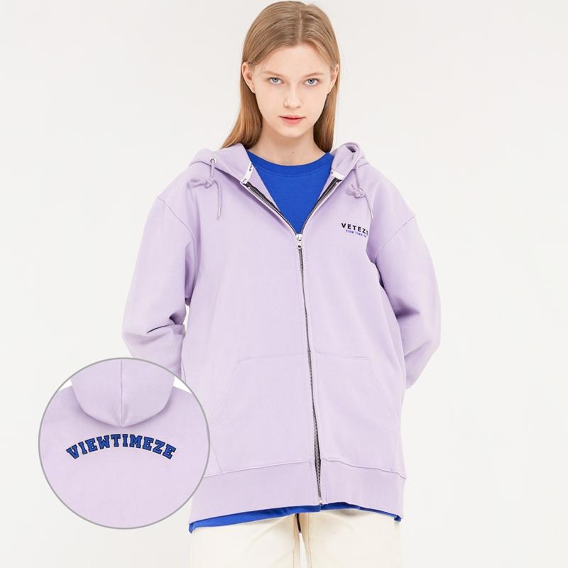 베테제 - Arch Logo Hood Zipup (light purple) 아치 로고 후드 집업 (라이트 퍼플)