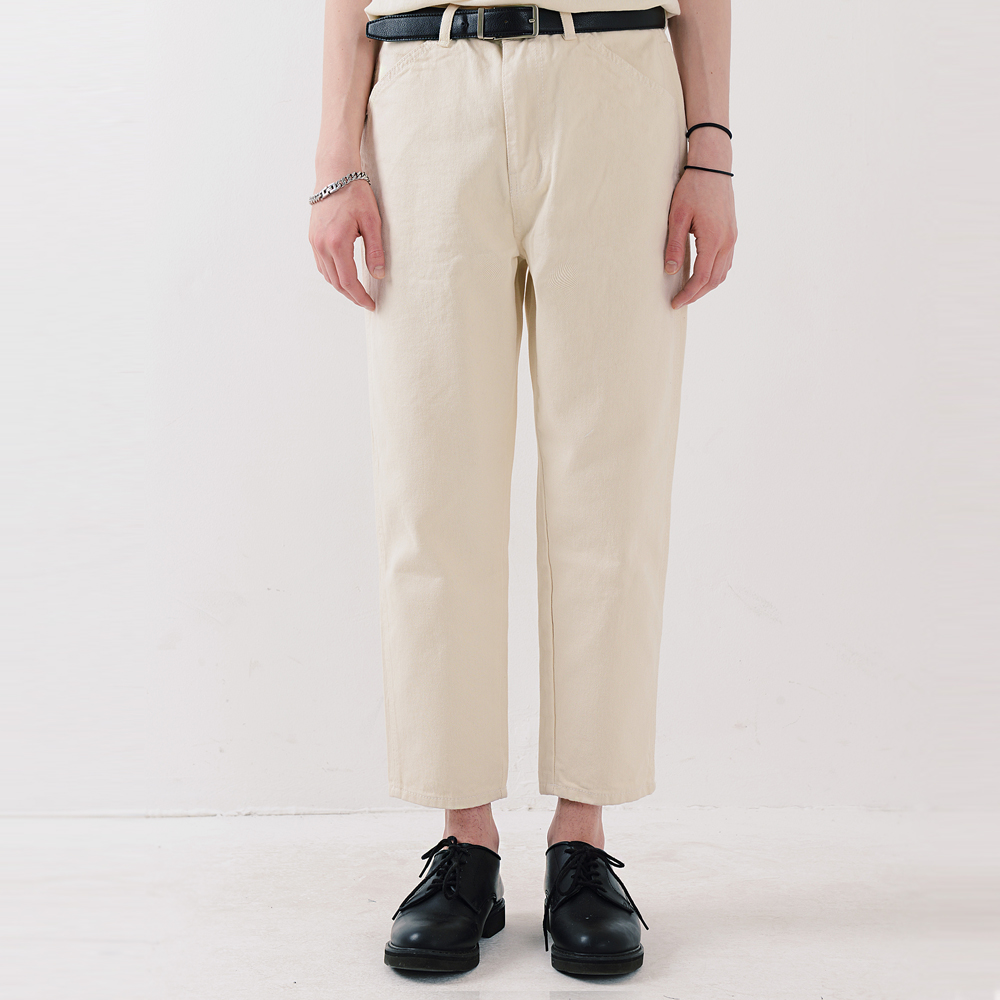 [피스메이커] ORDINARY STRAIGHT CROP JEAN (IVORY)
