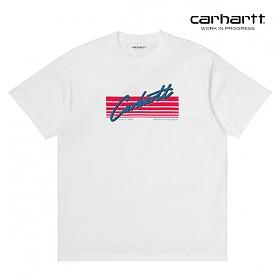 칼하트WIP S/S Horizon Script T-Shirt (White)