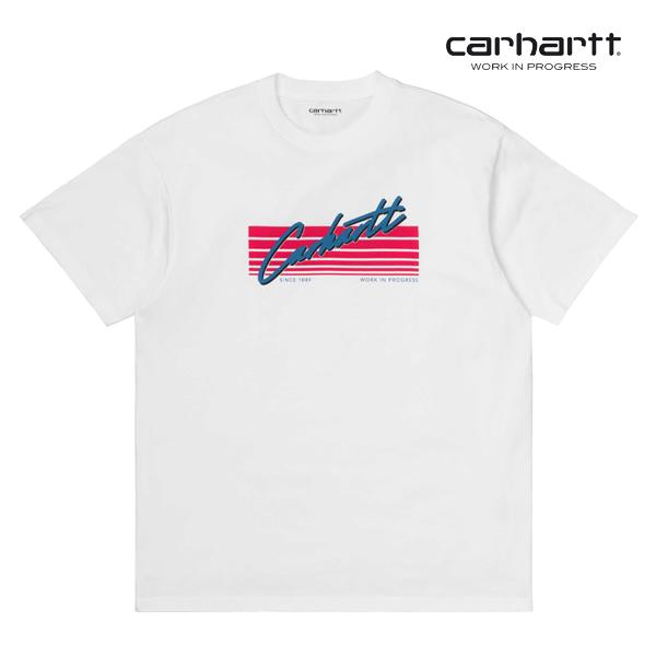 [칼하트WIP] CARHARTT WIP - S/S Horizon Script T-Shirt (White) 호라이즌 스크립트 반팔티