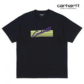 칼하트WIP S/S Horizon Script T-Shirt (Black)