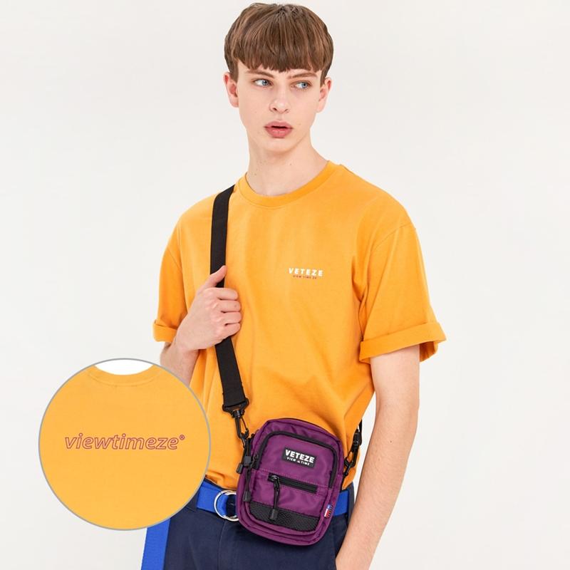 베테제 - Color Logo Half T-Shirts (mustard) 컬러 로고 하프 티셔츠 (머스타드)
