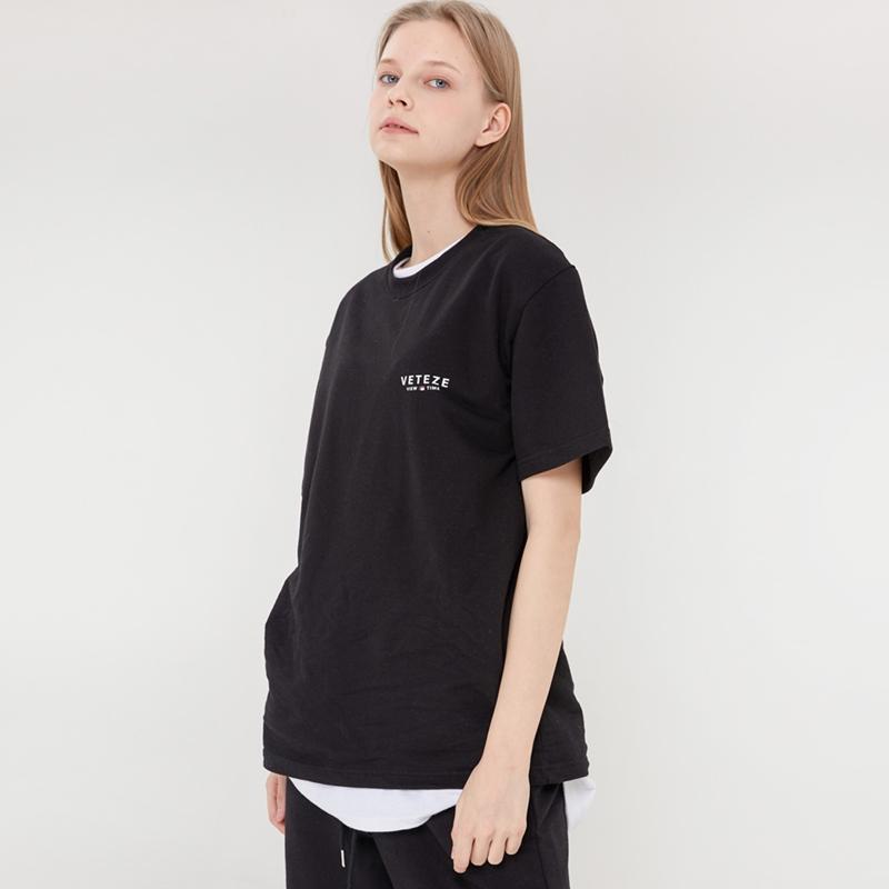 베테제- Signature Logo Half T-Shirts (black) 시그니처 로고 하프 티셔츠 (블랙)