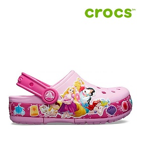 크록스 아동 샌달 /21- 205496-6I2 / Kids Crocs Fun Lab Multi-Princess Band Lights Clog Carnation