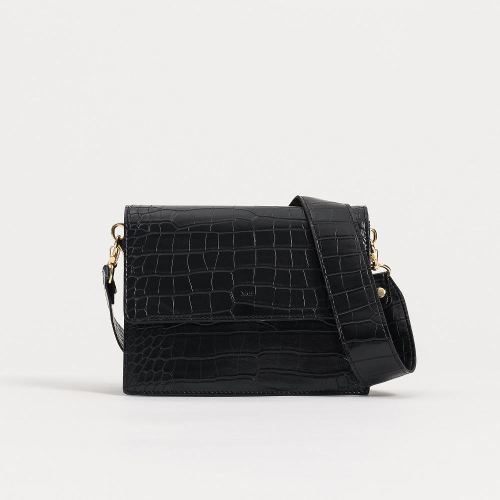 [무르]MUR - 메이백-크록블랙 숄더백 크로스백 여성가방