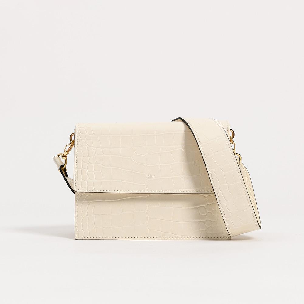 [무르]MUR - 메이백-크록크림 숄더백 크로스백 여성가방