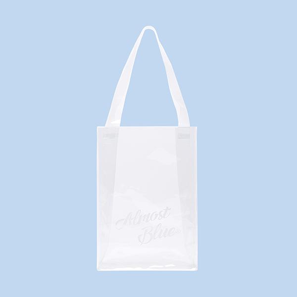 얼모스트블루 PVC TOTE BAG 투명 토트백