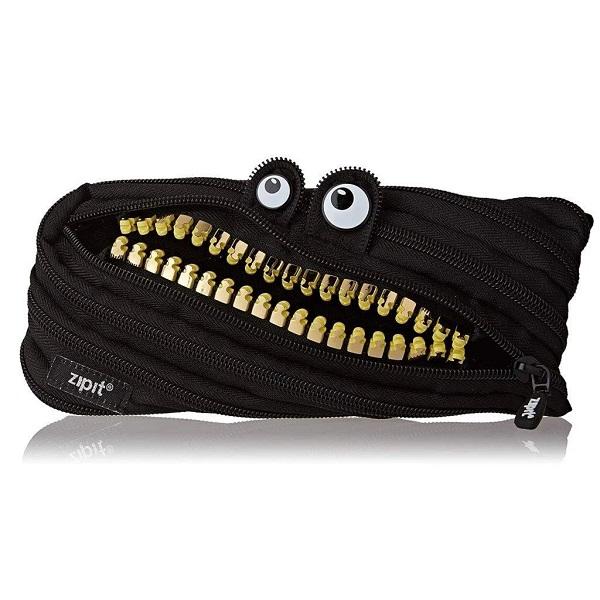 [집잇] ZIPIT -  이빨몬스터 그릴즈 블랙 파우치 클러치 펜케이스