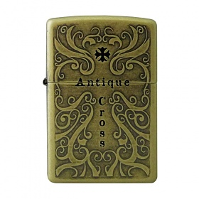 ZIPPO 라이터 ANTIQUE CROSS 2