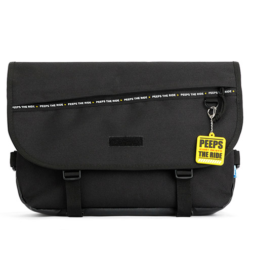 [핍스] PEEPS enjoy the ride messenger bag(black) 엔조이 라이드 메신저