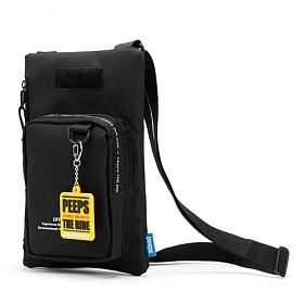 핍스 PEEPS offbeat square mini cross bag(black)