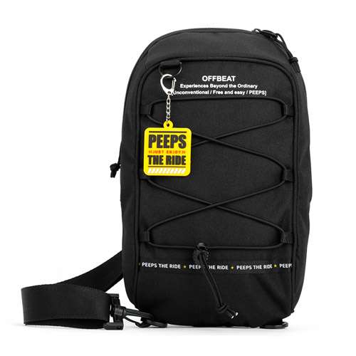 [핍스] PEEPS offbeat string sling bag(black)
