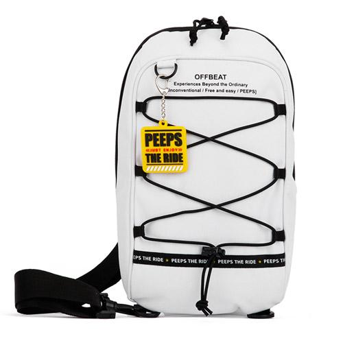 핍스 PEEPS offbeat string sling bag(white)