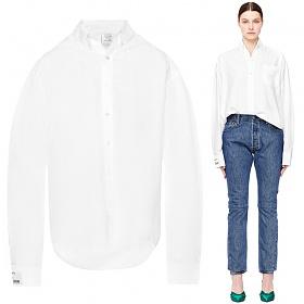 10주년 여성 오버사이즈 셔츠 화이트 WSS18SH1