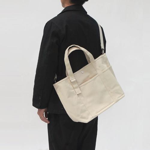 [벗딥]BUTDEEP - 20 2포켓 베이직 토트-네추럴 크로스백 토트백 캔버스백