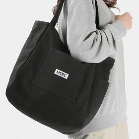 [사은품 증정/구매후기 지갑증정][몬스터리퍼블릭] MSRC LOGO POCKET CANVAS BAG / BLACK 캔버스백 에코백