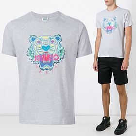 16F/W 컬러 타이거 반팔 티셔츠 그레이 5TS050 4YC 93