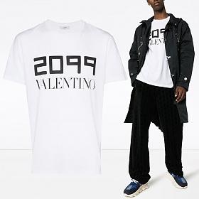 19FW 2099 로고 티셔츠 화이트 SV0MG04E 5SJ 0BO