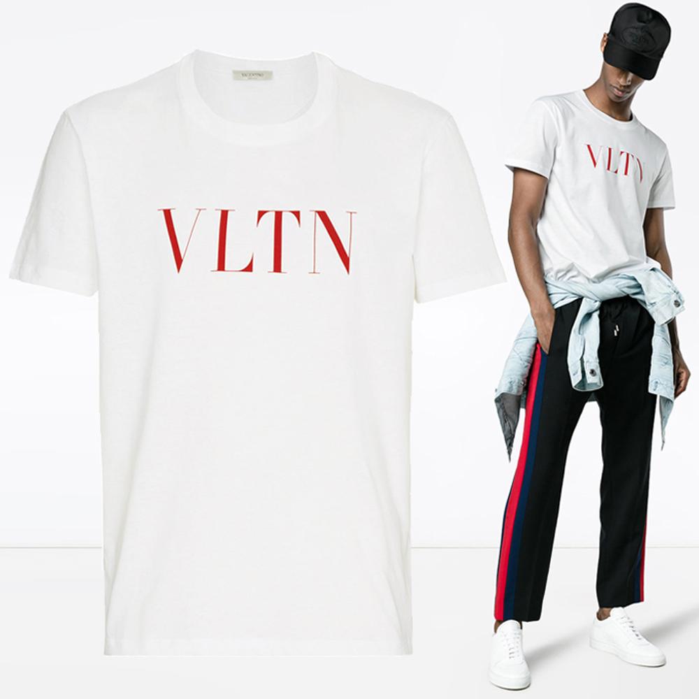19S/S VLTN 로고 프린트 티셔츠 RV3MG10V 3LE 0BO