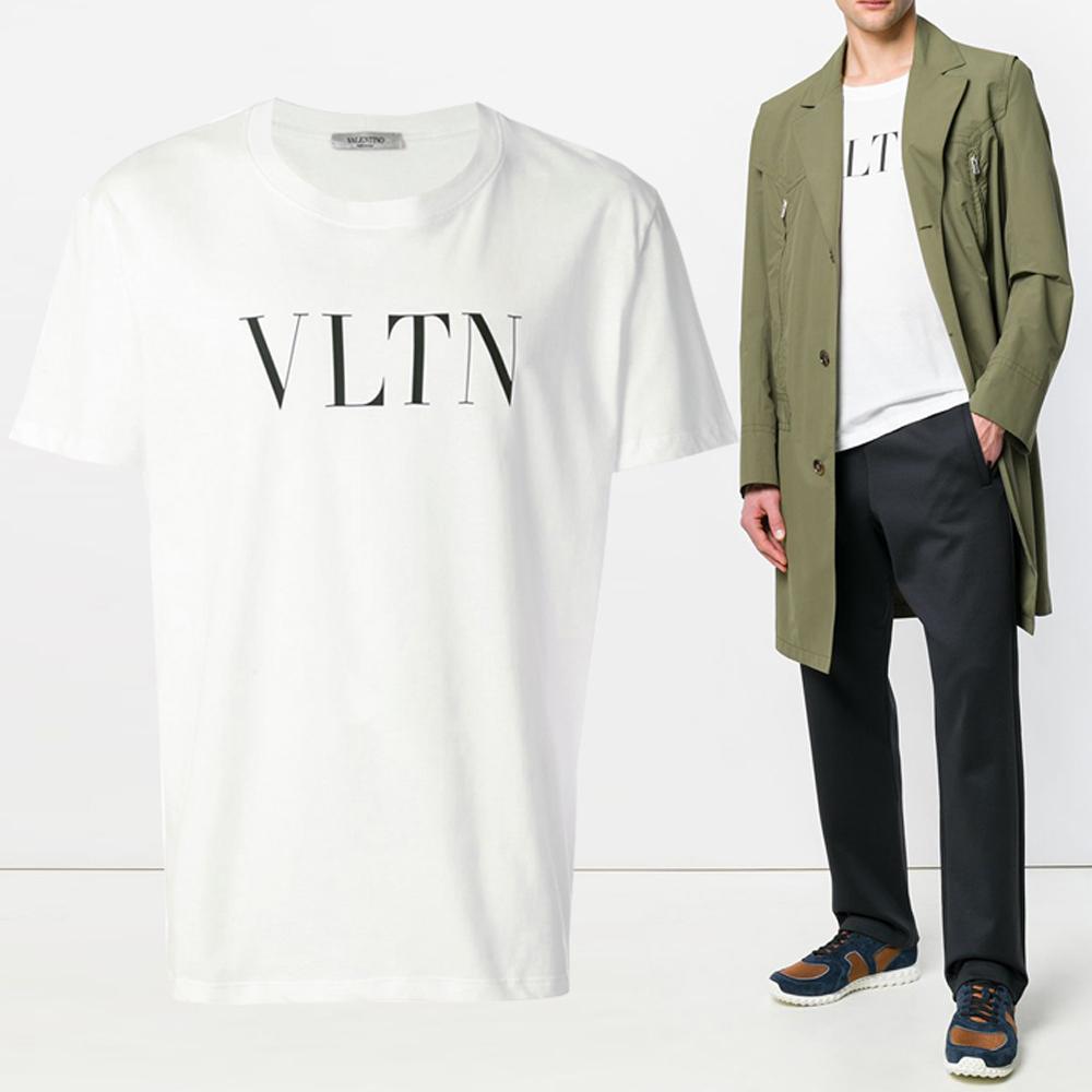 19F/W VLTN 로고 프린트 티셔츠 SV3MG10V 3LE A01