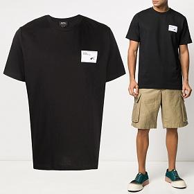 20SS 로고 패치 티셔츠 블랙 COEAW H26847 LZZ