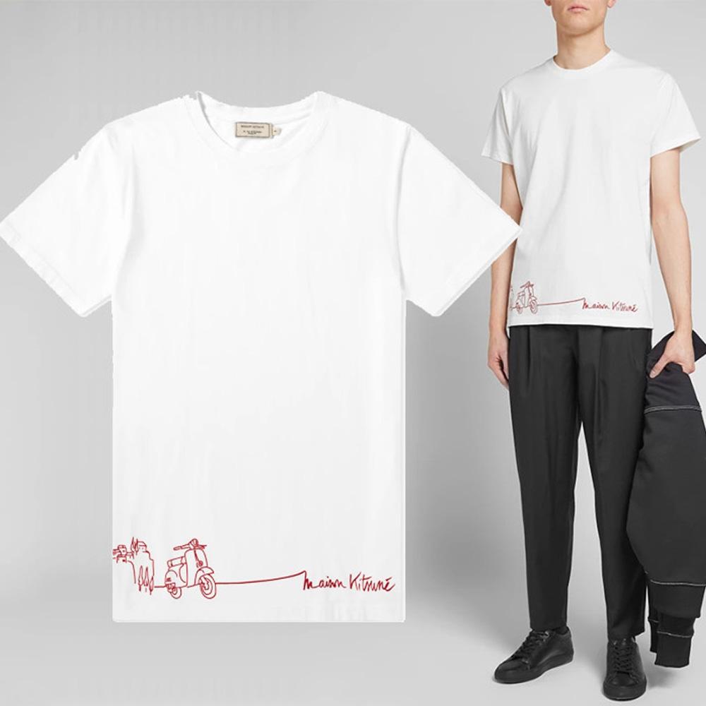 19S/S 에쿠르 스쿠터 티셔츠 화이트 CM00106KJ0010 EC