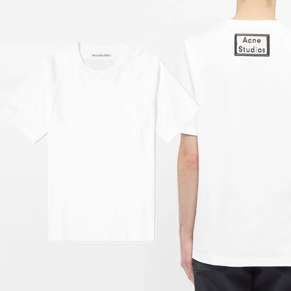 20SS 백 로고 패치 포켓 티셔츠 화이트 BL0160 183