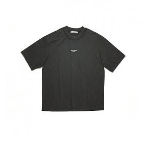 20SS 리버스 로고 라운드 티셔츠 블랙 BL0156 900