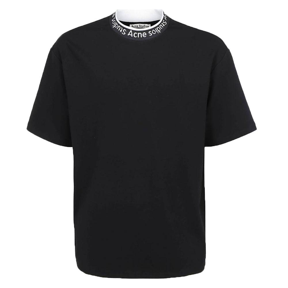 20SS 로고 모크넥 라운드 티셔츠 블랙 BL0141 900