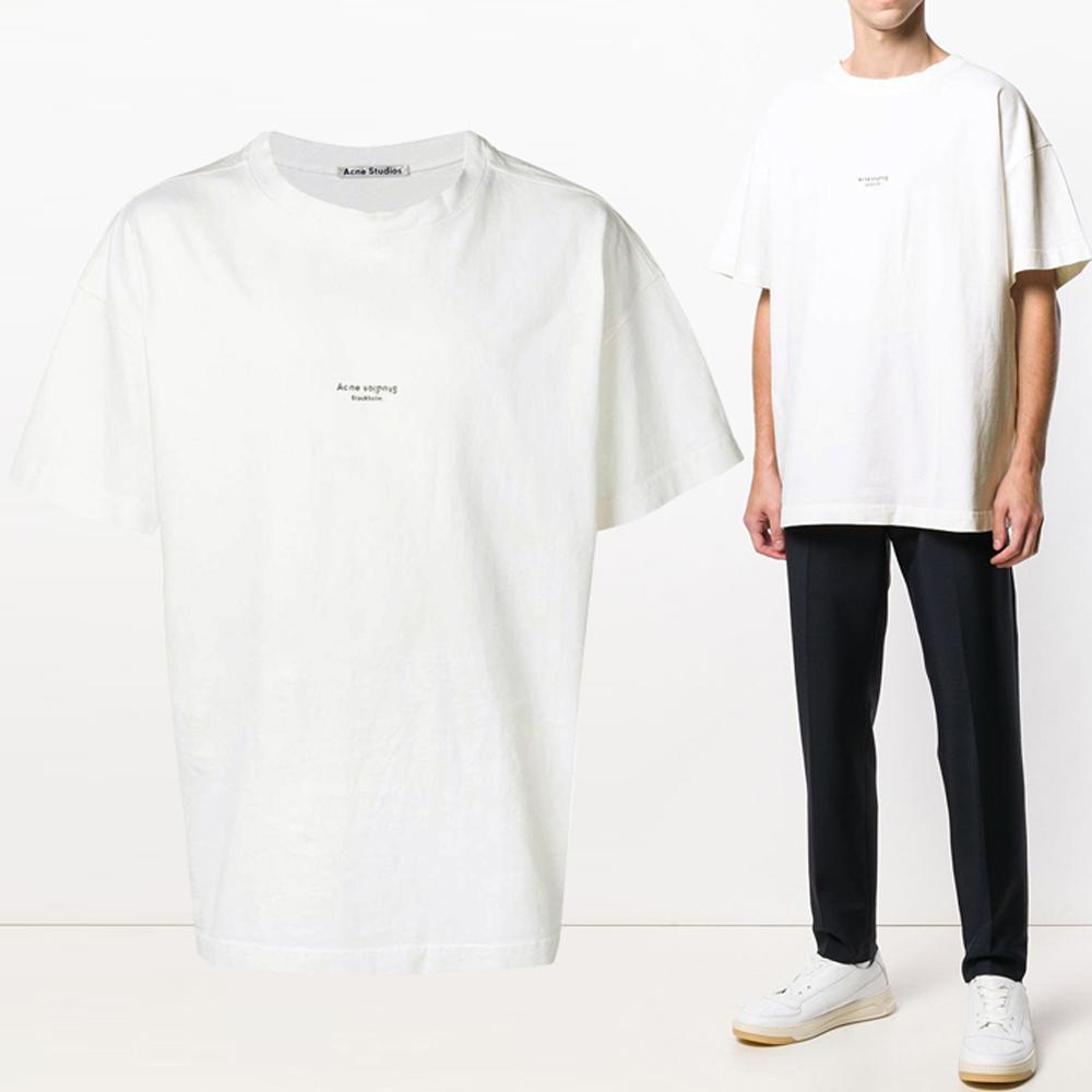 19F/W 가먼트 다이드 오버핏 로고 티셔츠 BL0006 183