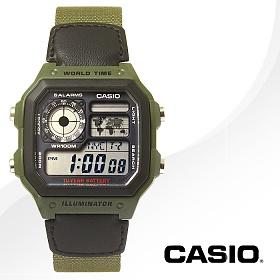 CASIO 카시오 AE-1200WHB-3B 남성시계 밀리터리 디지털시계