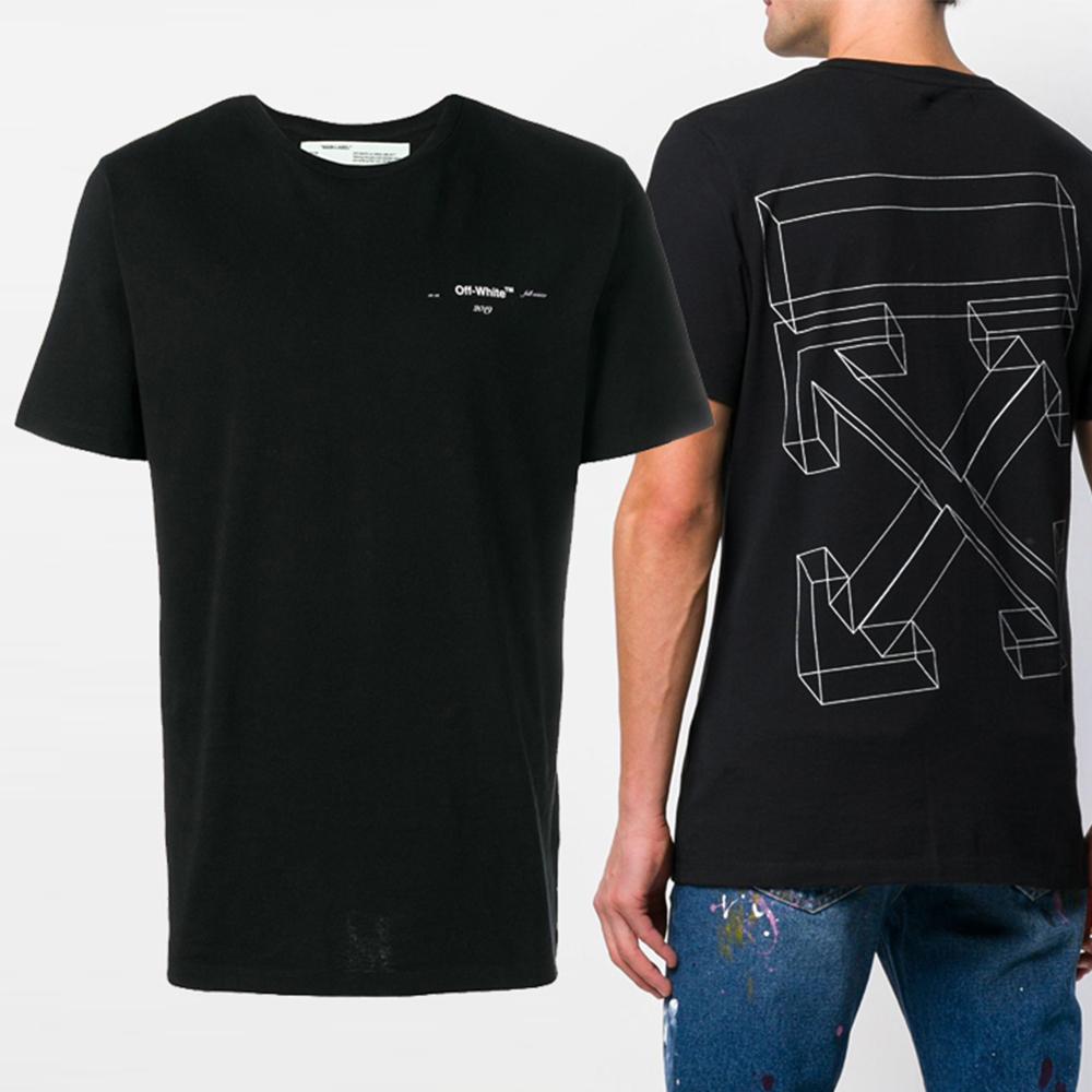 19SS 3D 백로고 슬림 티셔츠 OMAA027R19185075 1001