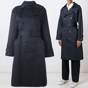 19F/W 그레타 트렌치 코트 다크네이 COZBA F01150 IAK
