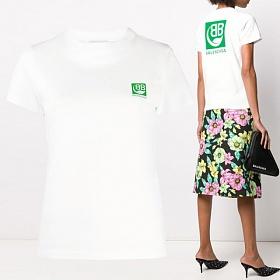 20SS BB 그린 스퀘어 백 티셔츠 578133 THV63 9000