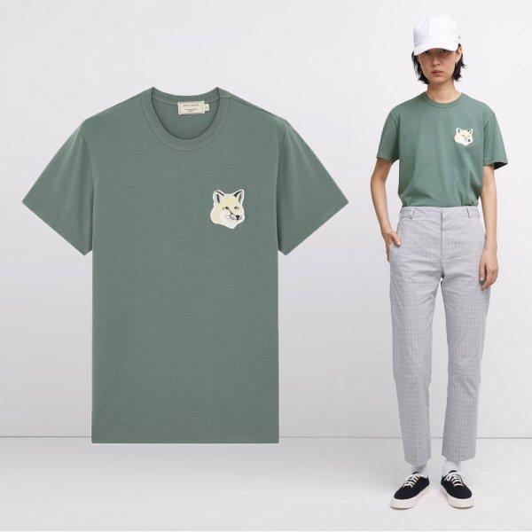 20SS 여성 빅 파스텔 폭스 티셔츠 EW00140KJ0008 BLGN